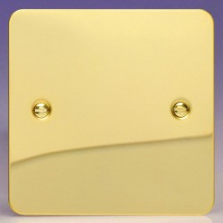 Varilight Ultraflat Polished Brass 1 Gang Blank Plate