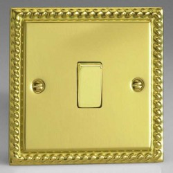 Varilight Classic Georgian Brass 1 Gang 10A 2 Way Switch