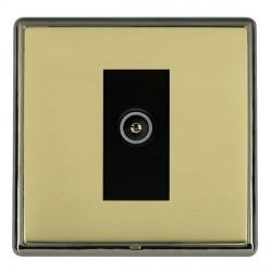 Hamilton Linea-Rondo CFX Black Nickel/Polished Brass 1 Gang TV (Female) with Black Insert