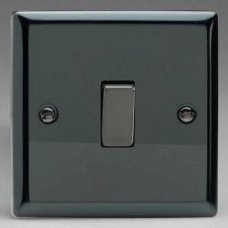 Varilight Classic Iridium Black 1 Gang 10A 2 Way Switch