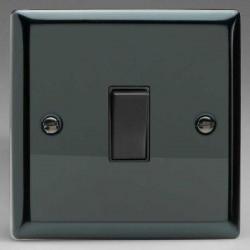 Varilight Classic Iridium Black 1 Gang 20A DP Switch with Black Insert