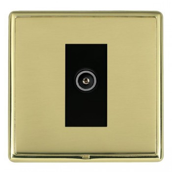 Hamilton Linea-Rondo CFX Polished Brass/Polished Brass 1 Gang TV (Female) with Black Insert