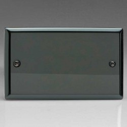 Varilight Classic Iridium Black 2 Gang Blank Plate