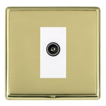 Hamilton Linea-Rondo CFX Polished Brass/Polished Brass 1 Gang TV (Female) with White Insert