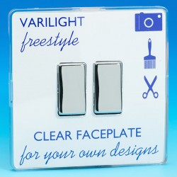 Varilight Freestyle 2 Gang 10A 2 Way Switch