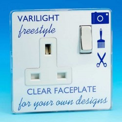 Varilight Freestyle 1 Gang 13A DP Switched Socket with White Insert