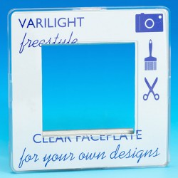 Varilight Freestyle 1 Gang Twin Aperture DataGrid Faceplate