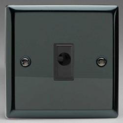 Varilight Classic Iridium Black 16A Flex Outlet with Black Insert