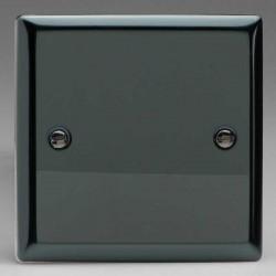Varilight Classic Iridium Black 1 Gang Blank Plate