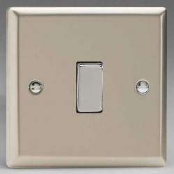 Varilight Classic Satin Chrome 1 Gang 10A 2 Way Switch