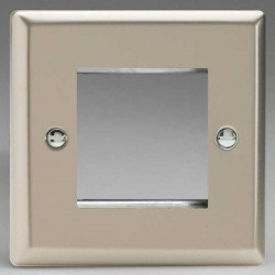 Varilight Classic Satin Chrome 1 Gang Twin Aperture DataGrid Faceplate