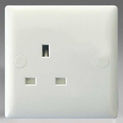 Varilight Classic Polar White 1 Gang 13A Unswitched Socket