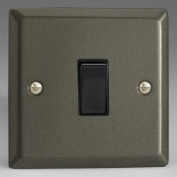Varilight Classic Graphite 21 1 Gang 10A 2 Way Switch with Black Insert