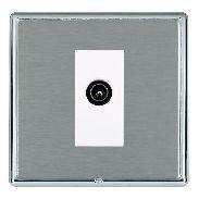 Hamilton Linea-Rondo CFX Bright Chrome/Satin Steel 1 Gang TV (Male) with White Insert