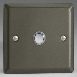 Varilight Classic Graphite 21 1 Gang 6A 2 Way Push-On/Off Impulse Switch