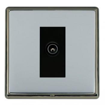 Hamilton Linea-Rondo CFX Black Nickel/Bright Steel 1 Gang TV (Male) with Black Insert