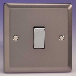 Varilight Classic Pewter Effect 1 Gang 10A 2 Way Switch