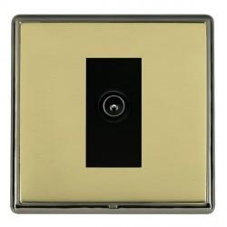 Hamilton Linea-Rondo CFX Black Nickel/Polished Brass 1 Gang TV (Male) with Black Insert