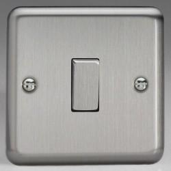 Varilight Classic Matt Chrome 1 Gang 10A 2 Way Switch