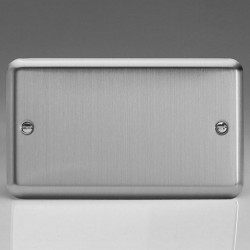 Varilight Classic Matt Chrome 2 Gang Blank Plate