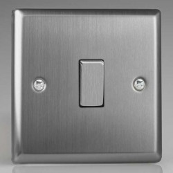 Varilight Classic Brushed Steel 1 Gang 10A 2 Way Switch
