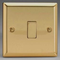 Varilight Classic Victorian Brass 1 Gang 10A 2 Way Switch
