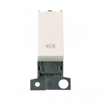 Click Minigrid MD018PWHB 13A Resistive 10AX DP Hob Switch Module Polar White