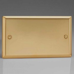 Varilight Classic Victorian Brass 2 Gang Blank Plate
