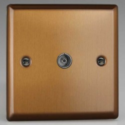 Varilight Urban Brushed Bronze 1 Gang Co-Axial TV Socket