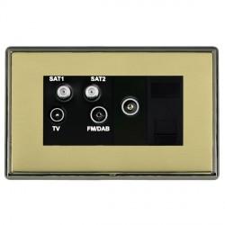 Hamilton Linea-Rondo CFX Black Nickel/Polished Brass TV+FM+SAT+SAT (DAB Compatible)+TV+TCS with Black Insert