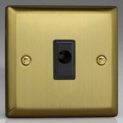 Varilight Urban Brushed Brass 16A Flex Outlet with Black Insert