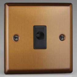 Varilight Urban Brushed Bronze 16A Flex Outlet with Black Insert