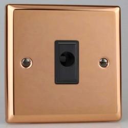 Varilight Urban Polished Copper 16A Flex Outlet with Black Insert