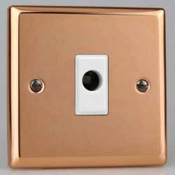 Varilight Urban Polished Copper 16A Flex Outlet with White Insert