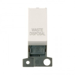Click Minigrid MD018PWWD 13A Resistive 10AX DP Waste Disposal Switch Module Polar White