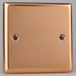 Varilight Urban Polished Copper 1 Gang Blank Plate
