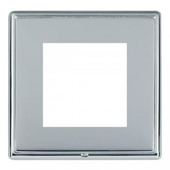 Hamilton Linea-Rondo CFX Bright Chrome/Bright Steel Single Plate c/w 2 EuroFix Apertures + Grid