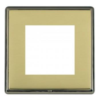 Hamilton Linea-Rondo CFX Black Nickel/Polished Brass Single Plate c/w 2 EuroFix Apertures + Grid