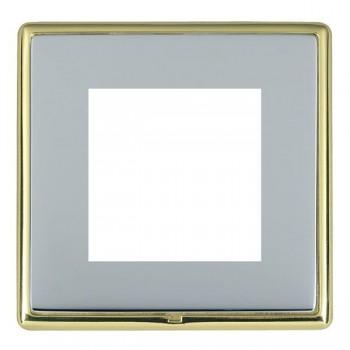 Hamilton Linea-Rondo CFX Polished Brass/Bright Steel Single Plate c/w 2 EuroFix Apertures + Grid