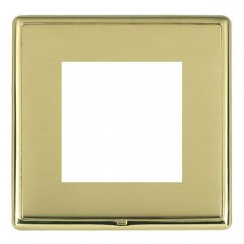 Hamilton Linea-Rondo CFX Polished Brass/Polished Brass Single Plate c/w 2 EuroFix Apertures + Grid
