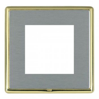 Hamilton Linea-Rondo CFX Polished Brass/Satin Steel Single Plate c/w 2 EuroFix Apertures + Grid