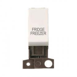 Click Minigrid MD018PWFF 13A Resistive 10AX DP Fridge Freezer Switch Module Polar White