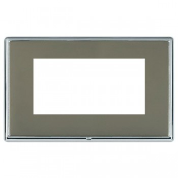 Hamilton Linea-Rondo CFX Bright Chrome/Black Nickel Double Plate c/w 4 EuroFix Apertures + Grid