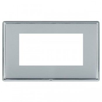 Hamilton Linea-Rondo CFX Bright Chrome/Bright Steel Double Plate c/w 4 EuroFix Apertures + Grid
