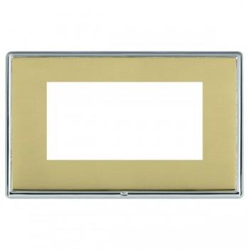 Hamilton Linea-Rondo CFX Bright Chrome/Polished Brass Double Plate c/w 4 EuroFix Apertures + Grid