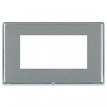 Hamilton Linea-Rondo CFX Bright Chrome/Satin Steel Double Plate c/w 4 EuroFix Apertures + Grid