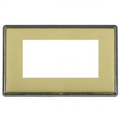 Hamilton Linea-Rondo CFX Black Nickel/Polished Brass Double Plate c/w 4 EuroFix Apertures + Grid