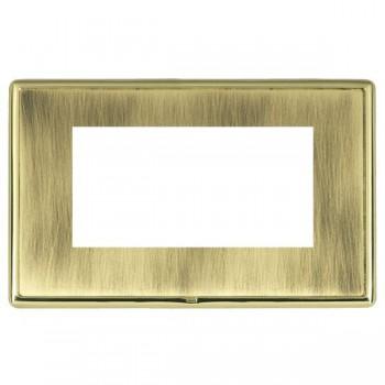 Hamilton Linea-Rondo CFX Polished Brass/Antique Brass Double Plate c/w 4 EuroFix Apertures + Grid