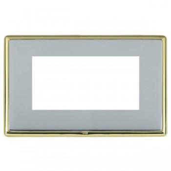 Hamilton Linea-Rondo CFX Polished Brass/Bright Steel Double Plate c/w 4 EuroFix Apertures + Grid