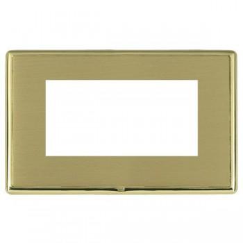 Hamilton Linea-Rondo CFX Polished Brass/Satin Brass Double Plate c/w 4 EuroFix Apertures + Grid